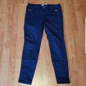 Zara navy blue skinny jeans